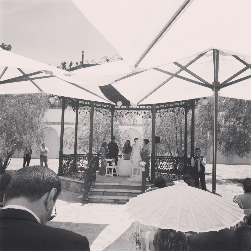 Civil ceremony on the gazebo
