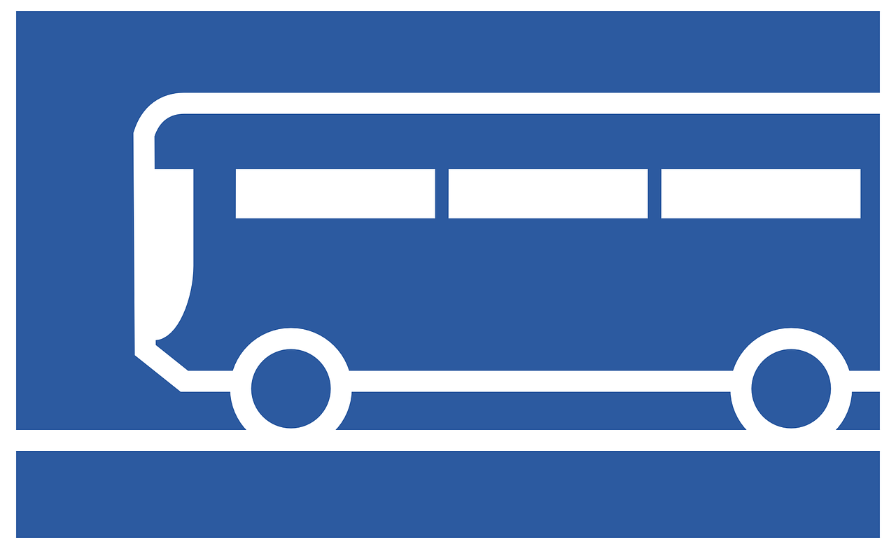 bus in blue