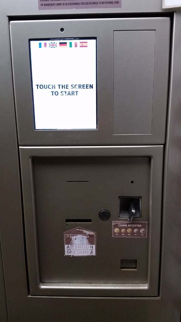 Revolution Wash & Dry payment kiosk