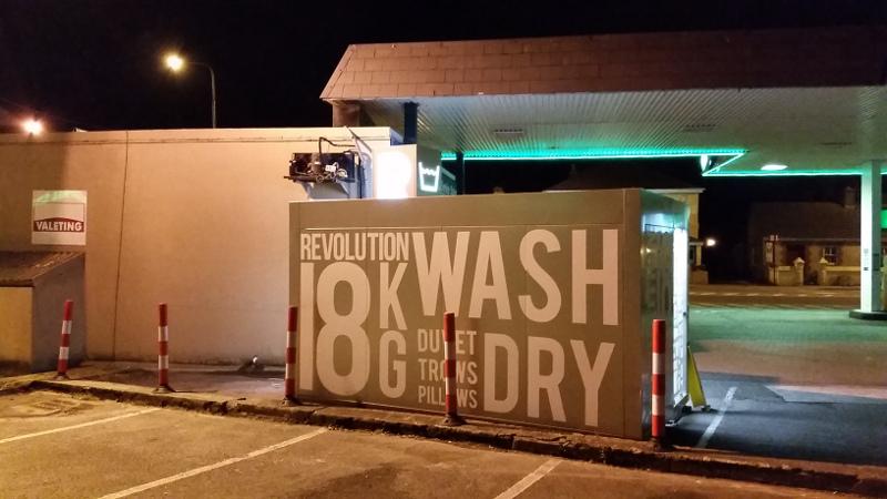 Rear shot of Revolution Wash & Dry launderette