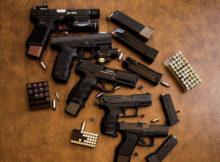 handguns and ammo